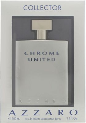 Azzaro Chrome United Eau de Toilette (EDT) 100ml Spray - Collector Edition For Men