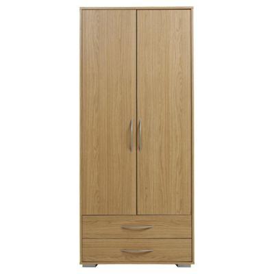 Newport Double 2 Drawer Wardrobe Oak