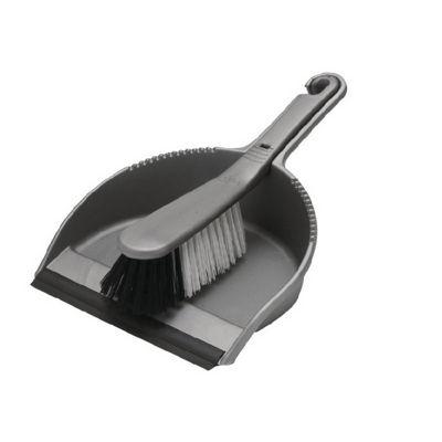 Addis Dustpan & Brush Set (Soft Bristle) Metallic Finish