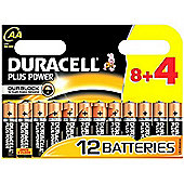 12 x Duracell AA MN1500 Plus Power Batteries
