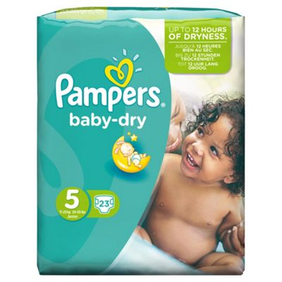 Pampers Baby Dry Size 5 Carry Pack - 23 nappies