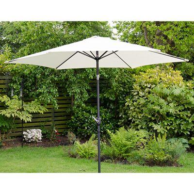 Henley 3m Crank And Tilt Garden Parasol Cream