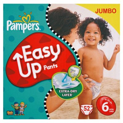 Pampers Easy Ups Jumbo Pack Extra Large 52