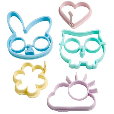 VonShef 5 Piece Silicone Egg Mould Set