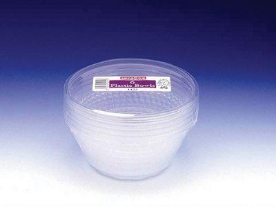 Caroline T1423 Plastic Bowl Clear 600Ml X6