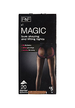 F&F 20 Denier Magic Shaping Tights with Lycra® - Natural