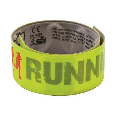 Wowow Reflective Hi-Vis-Hi-Viz Running Cycling Snap Wrap Band - Yellow