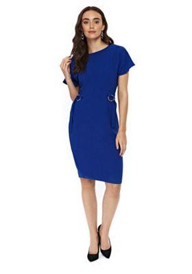 Wallis Ring Detail Wiggle Dress Cobalt Blue 12