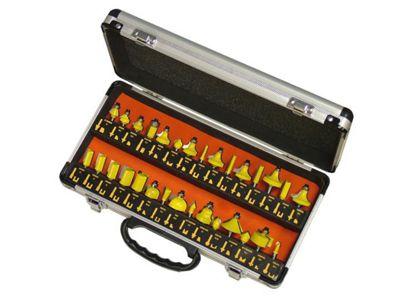 Faithfull Tungsten Carbide Router Bit Set 30 In Carry Case