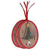 Cross Stitch Town Christmas Gift Tags, 3 pack