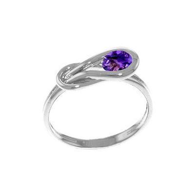 QP Jewellers 0.65ct Amethyst San Francisco Ring in 14K White Gold - Size C