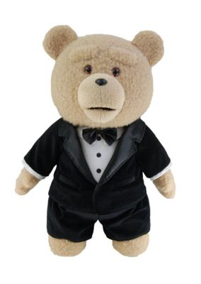 TED 24-Inch Talking Plush Toy Ted in Tuxedo - Soft Toys