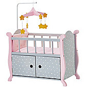 Olivia's Little World - Polka Dots Baby Nursery Bed with Cabinet