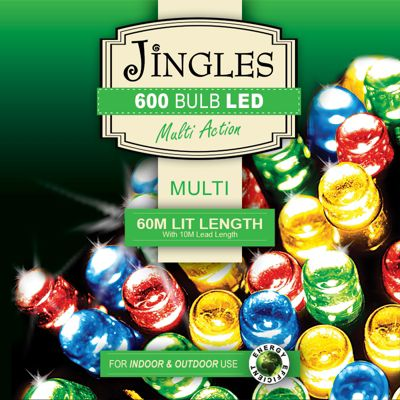 Jingles 600 Multi Function Multi Colour LED Lights with Long-Lead