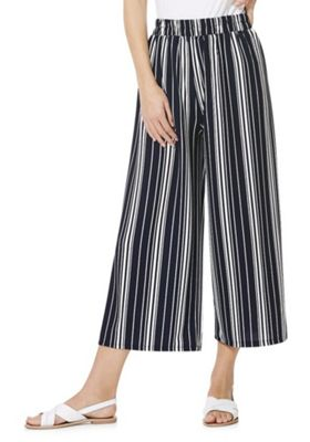 Izabel London Striped Culottes Navy/White 10