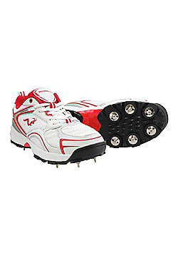 Woodworm Pro Select Spike Cricket Shoes - White