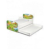 PriceRightHome Dinosaur Toddler Bed With Underbed Storage Plus Foam Mattress