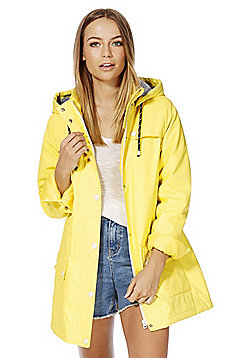 F&F Coated Shower Resistant Fisherman Jacket - Yellow