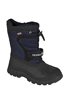 Trespass Kids Kukun Winter Snow Boots - Navy
