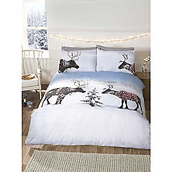 Rapport Reindeer Jumpers Christmas Duvet Cover Set - Double