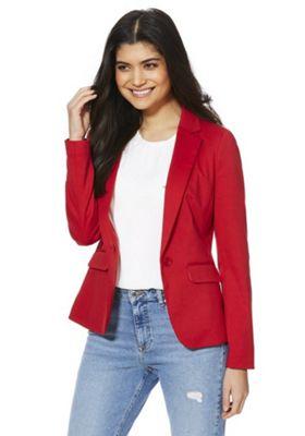 F&F Ponte Blazer Jacket Red 14