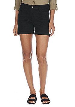 Vero Moda High Waisted Denim Shorts - Black