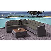 BrackenStyle Corner Sofa Set & Cushions - Dark Grey