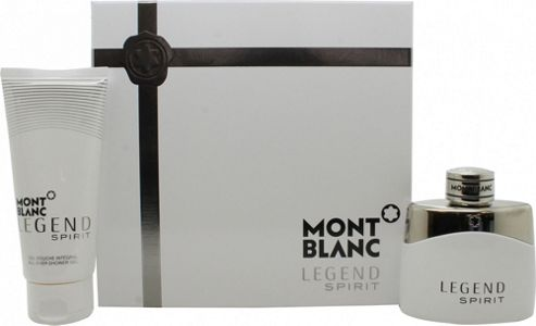 Mont Blanc Legend Spirit Gift Set 50ml EDT + 100ml Shower Gel For Men