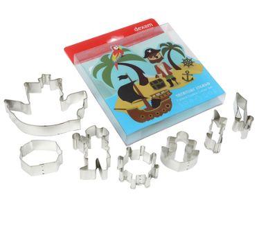 Dexam 7 Piece Treasure Island Pirate Cookie Cutter Set