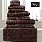 Belledorm Hotel Suite Madison 600 GSM Hand Bath Towel Sheet Chocolate - Chocolate