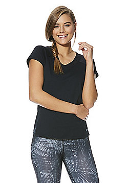 F&F Active Mesh Insert T-Shirt - Black