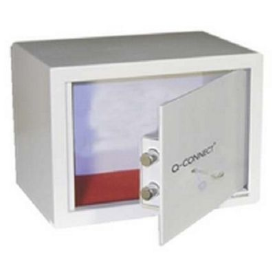 Q-Connect Key-Operated Safe 10 Litre H200xW310xD200mm KF04388