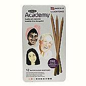 Derwent Academy Set - Watercolour Skintones 12 Tin