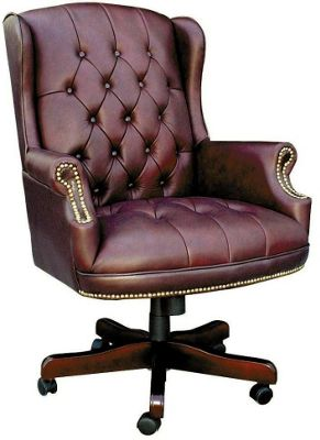 DSK Chairman Large Leather Executive Chair - Burgundy