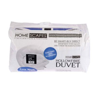 Homescapes 15 Tog Hollowfibre Single Winter Duvet