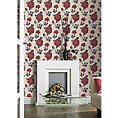 Superfresco Rosey Wallpaper - Red