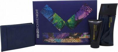 Kenzo Homme Night Gift Set 100ml EDT + 50ml Shower Gel + Wallet For Men