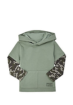 F&F Camo Sleeve Hoodie - Khaki
