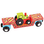 Bigjigs Rail Tractor Low Loader