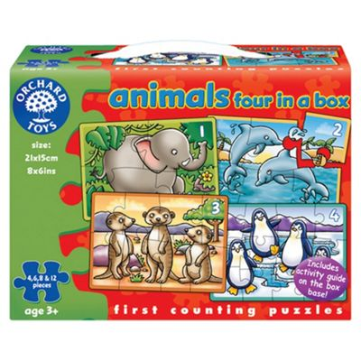 Orchard Toys 4 In A Box Aniamls Jigsaw