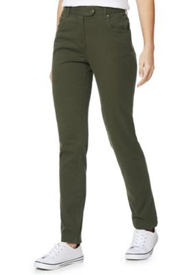Regatta Damira Straight Leg Trousers 16 Khaki
