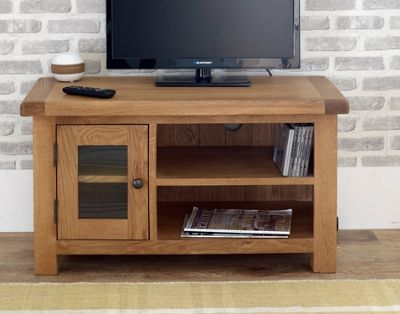 Worcester - Small Oak TV Stand / Oak TV Unit