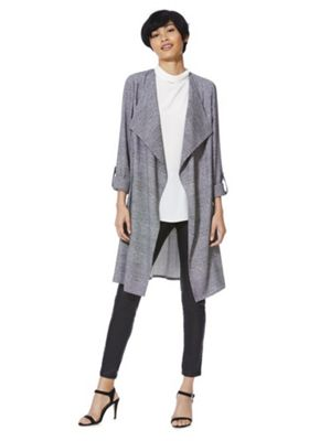 F&F Speckle Checked Waterfall Jacket Grey 16