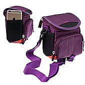 Navitech Purple Digital Camera Case Bag Cover For The Praktica Luxmedia Z212 Black Camera