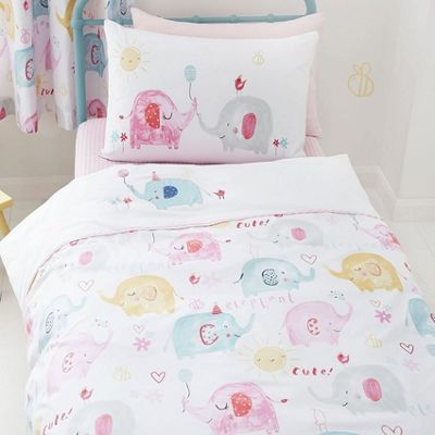 Catherine Lansfield Elephants On Parade Double Duvet Set