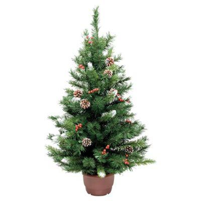 Buy Festive 3ft Winterberry Mini Pine Christmas Tree from ...
