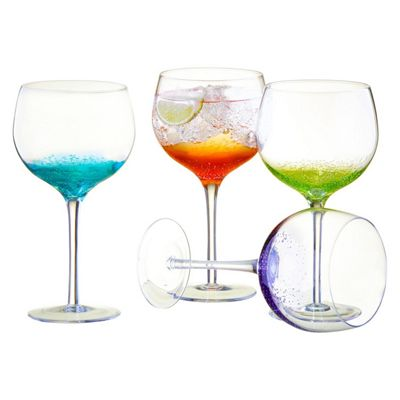 Anton Studio Designs Set of 4 Fizz Gin Glasses in Various Colours Glass ASD10266