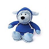 Intelex Warmies Heatable Sheep Hoody Blue Microwavable Cozy Plush Soft Toy