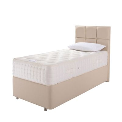 Relyon Natural Silk Padded Top Non Storage Single Divan Bed