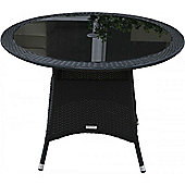 Small Round Dining Table in Black (105 dia)
